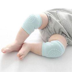 Bebé nacido Niño niños suave antideslizante Seguridad arrastre codo Cojines rodilla almohadilla de algodón peinado Terry dispensación 1 par