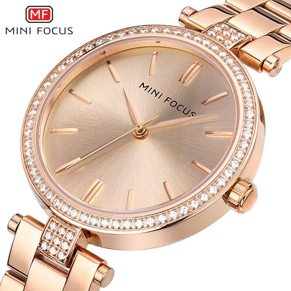 MINIFOCUS nouveau 2019 haut à la mode dames robe Quartz Montre célèbre marque femmes montres Femme horloge Montre Femme Relogio Feminino