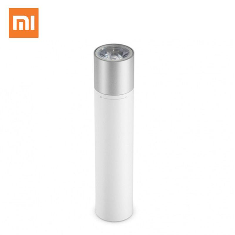 Original Xiaomi Tragbare Taschenlampe Extreme Einfache Design 11 Grade Brillanz Kontrolle 3350 mah Li-Batterie Notfall Lade