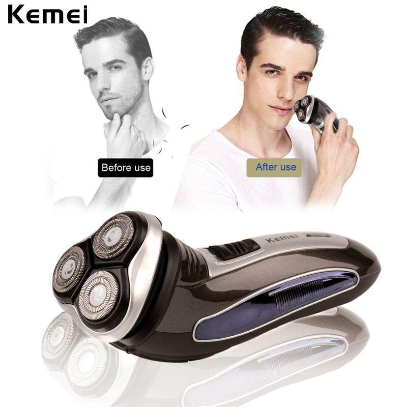 3D Triple Floating Blade Heads Rechargeable Electric Shaver Men Shaving Machine Razors Face <font><b>Care</b></font> Beard Trimmer Barbeador 4546