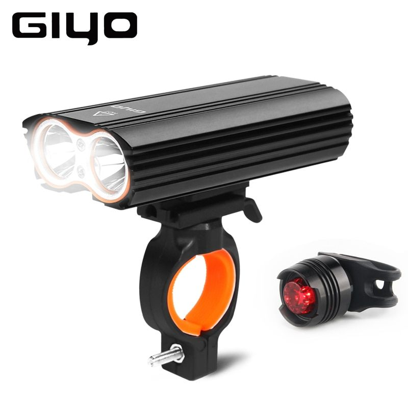 GYIO Bicycle Bike Light Front 2400Lm Headlight 2 Battery T6 Leds Bicycle Light Cycling Lamp Lantern Flashlight For Bicycle Bike