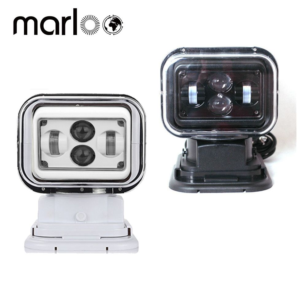 Marloo 7Inch 360 Degree Remote Control 4D Led Search Light 60W Marine Searchlight Spot light For Boats Car Vehicle Off Road