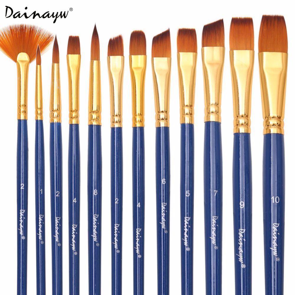 Dainayw 12 Pieces/Ensemble Brosses pour Peinture de Cheveux en Nylon