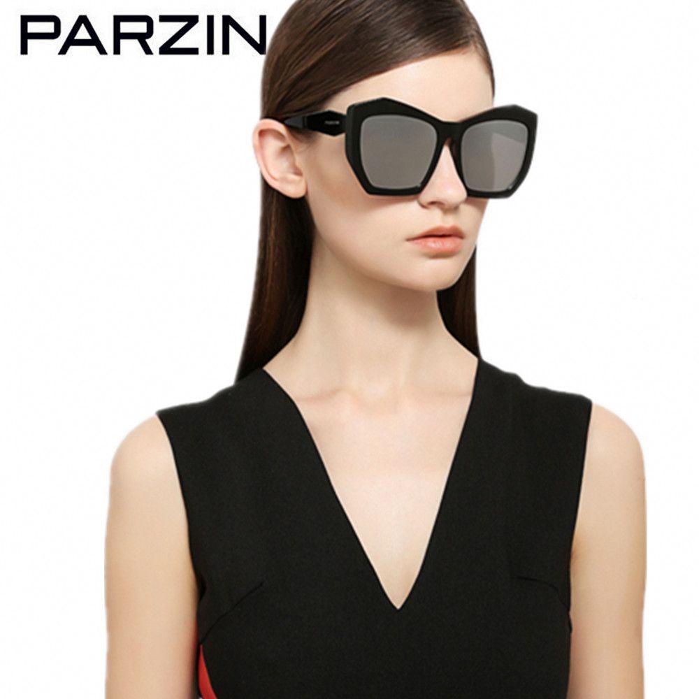 PARZIN Polarisierte Frauen Sonnenbrille HD Nylon Linsen Weibliche Sonnenbrille Damen Fahren Brille Schwarz Mit Fall 9756
