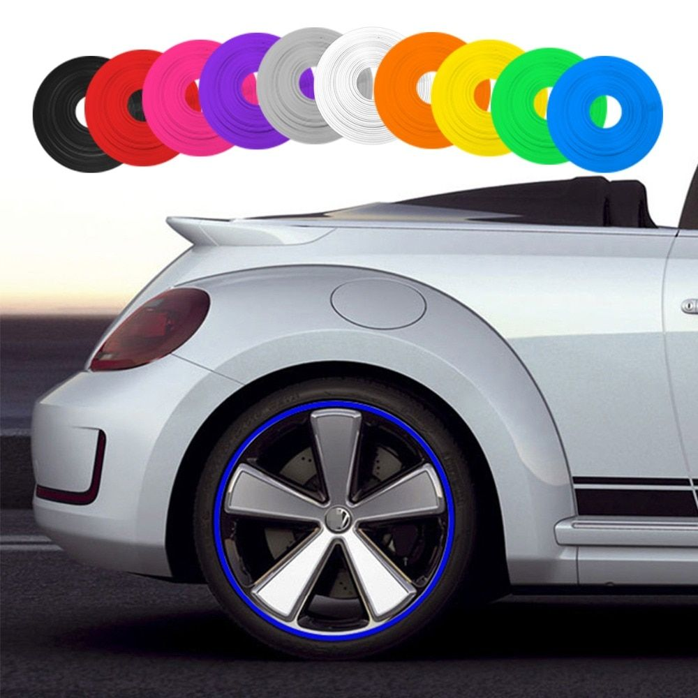 10 Color 8M/Roll New Car Styling IPA Rimblades Car Vehicle Color Wheel Rims Protector Tire Guard Line Rubber Moulding Trim