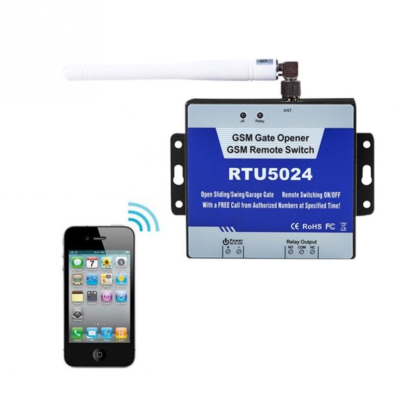 GSM Gate Opener/Relay Switch RTU5024 9-15V DC Phone Wireless Remote Control Door Accessories