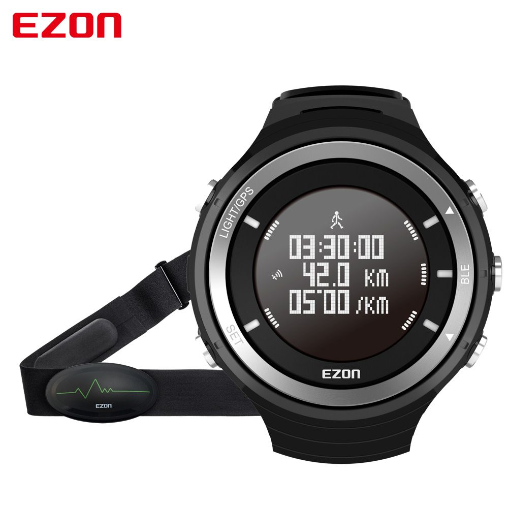 EZON T033 Smart Sports Marathon Running Watch Bluetooth 4.0 GPS Track Pedometer Heart Rate Wristwatch Altimeter Barometer
