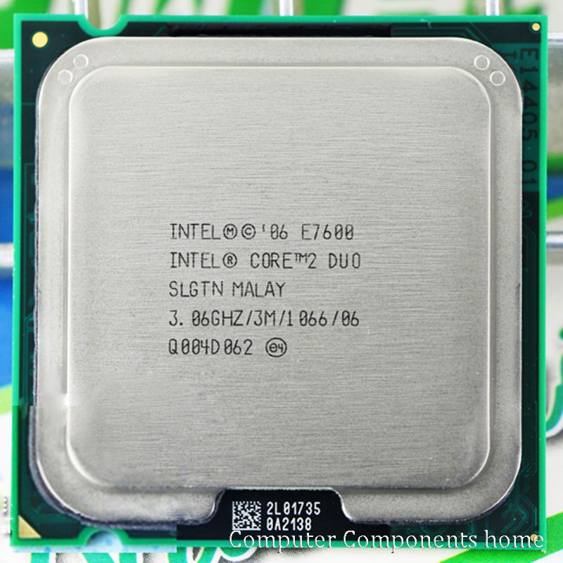 Original intel  Core 2 Duo E7600 CPU Processor (3.0Ghz/ 3M /1066GHz) Socket 775