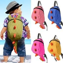 New Cartoon Personality Kawaii Monster Canvas Backpack Smaller Dinosaurs Snacks Fashion Toy Kids Backpack for Children