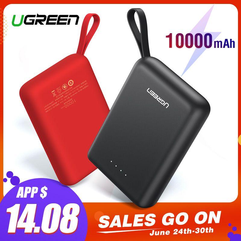 Ugreen batterie externe pour Xiaomi Mini Pover Bank 10000 mAh Portable chargeur de batterie de téléphone externe pour iPhone X Huawei P20 appauvrbank