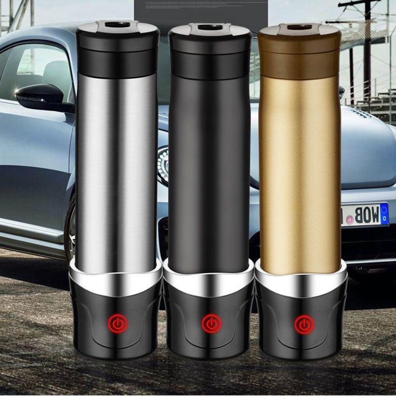 Neue mode Auto Elektrische Heizung Cup Becherschale Männer hand Auto heizung 400 ml Glas Schwarz Gold Silber Calix Trophäe Tumbler USB Gadgets