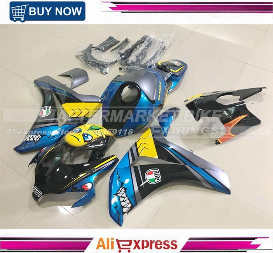 For Honda Custom Design CBR1000RR CBR 1000RR 2008-2011 Complete Motorcycle Fairing Kit Plastic Body Cowl