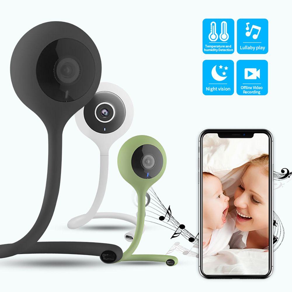 SDETER Wireless Nanny Baby Monitor Wifi Camera 2 Way Audio Night Vision Security Camera Temperature Monitor Lullaby Babysitter