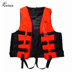 Polyester Adult Life Vest Jacket Swimming Boating Drifting Life Vest with Whistle S-XXXL Sizes Water Sports Safety Man Jacket