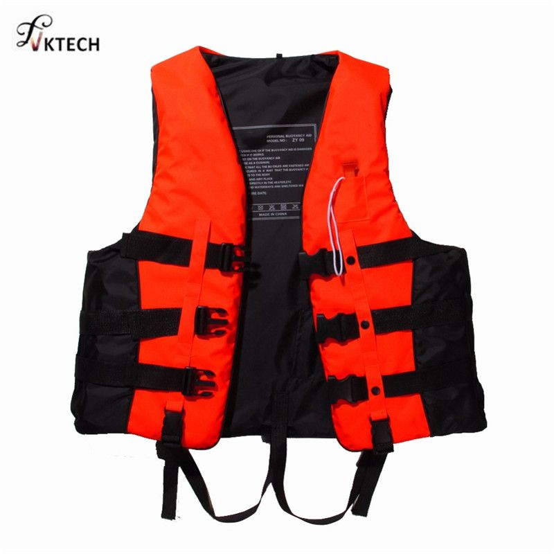 Polyester Adult Life Vest Jacket Swimming <font><b>Boating</b></font> Ski Drifting Life Vest with Whistle S-XXXL Sizes Water Sports Man Women Jacket