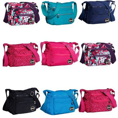 Femmes sac épaule 2019 nouveau pas cher femmes sacs décontracté Nylon sacs épaule Messenger multicouche 8 couleur sacs Bolsos sac a main