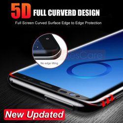 5D Pleine Courbe En Verre Trempé Pour Samsung S8 S9 Plus Écran protecteur Pour Samsung Galaxy Note 8 S7 Bord A8 2018 De Protection Film