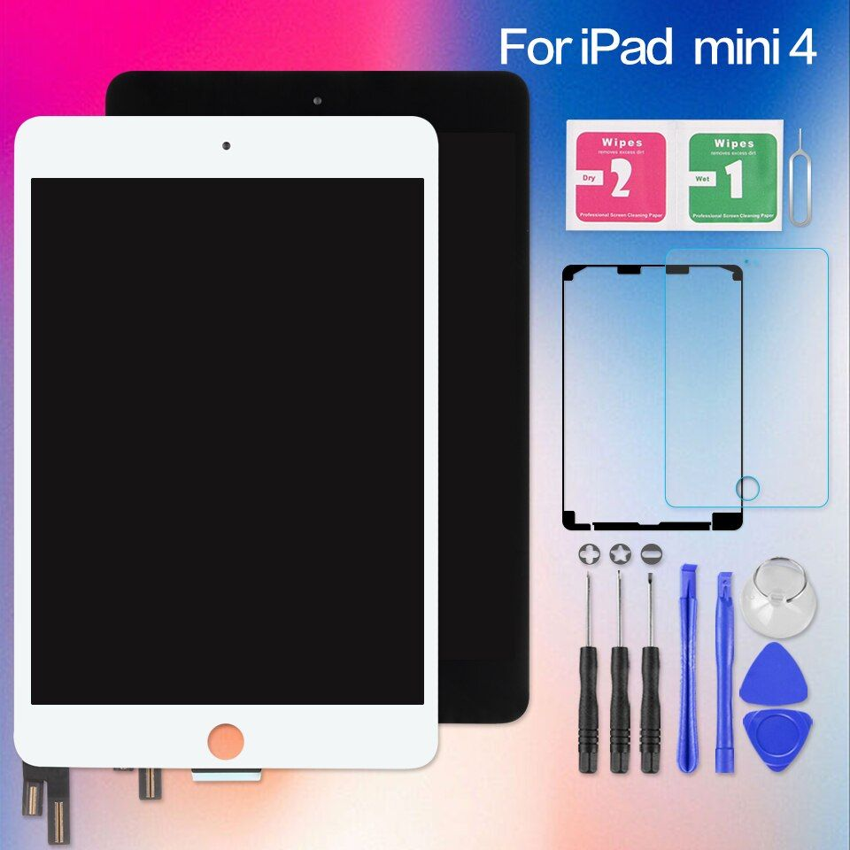 AAA+ Screen For iPad Mini 4 Mini4 A1538 A1550 Touch Digitizer Sensor LCD Display Matrix Replacement no Home Button 7.9 inch