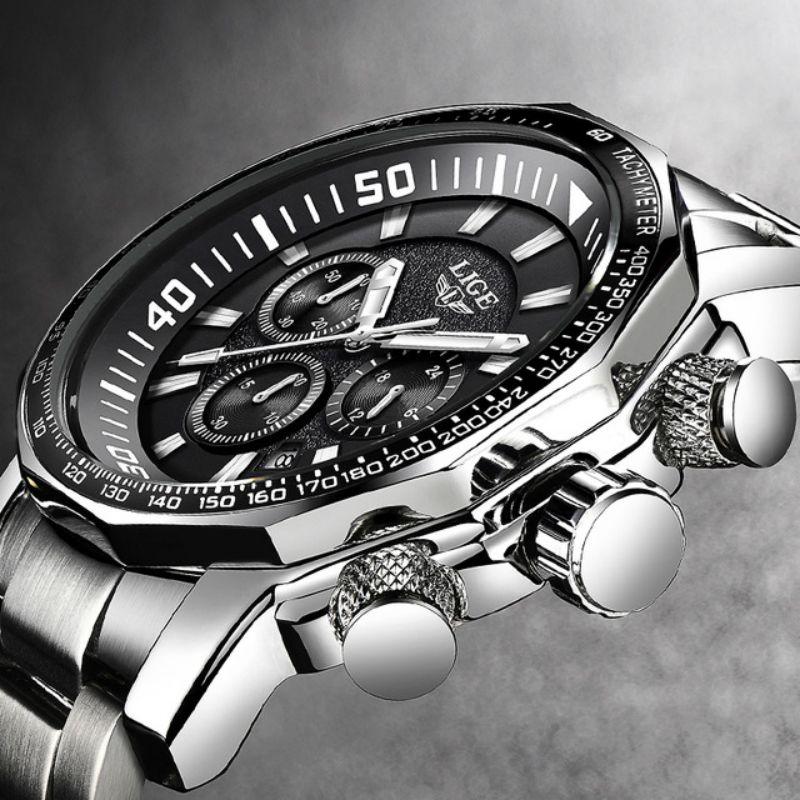 Relojes Hombre 2018 New LIGE Fashion Mens Watches Luxury Brand Business Quartz Watch Men Sport Waterproof Big Dial male watch