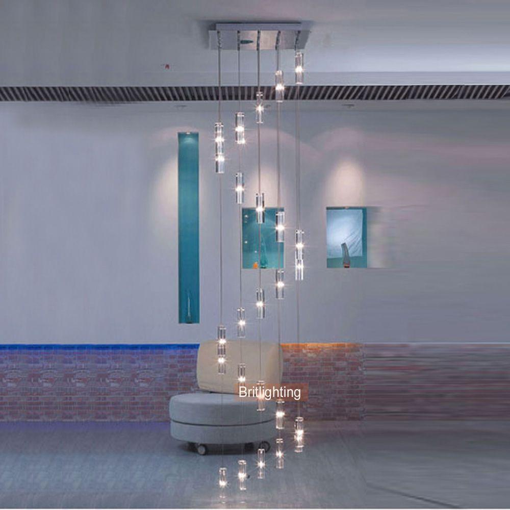 Moderne Hängen Kronleuchter Treppe Kristall Spirale Kronleuchter Beleuchtung Moderne LED Kronleuchter Leiter Licht Suspension Lampe LED