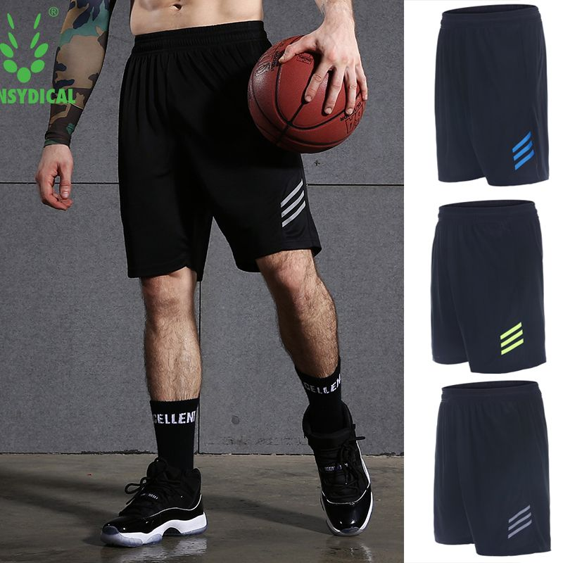 Mens Sports Running Shorts Training Soccer Tennis Workout GYM Shorts Quick Dry Outdoor Jogging Elastic Shorts With Zipper Pocket