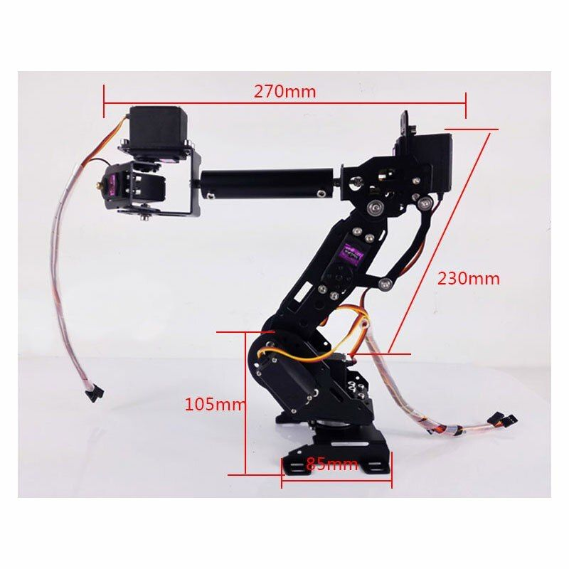 2018 DIY Education Robot Competition Mechanical Arm 7 Axis Robot Arm High Torque Servo 7DOF Robot Arm
