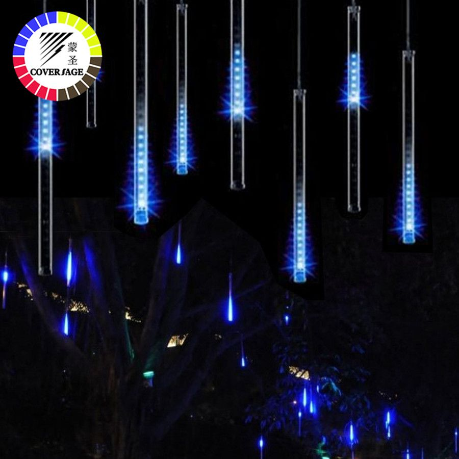 Coversage Led Meteor Garden Garland Christmas Tree Luces Navidad 30CM Xmas Decorative Lights Outdoor Fairy Lights String
