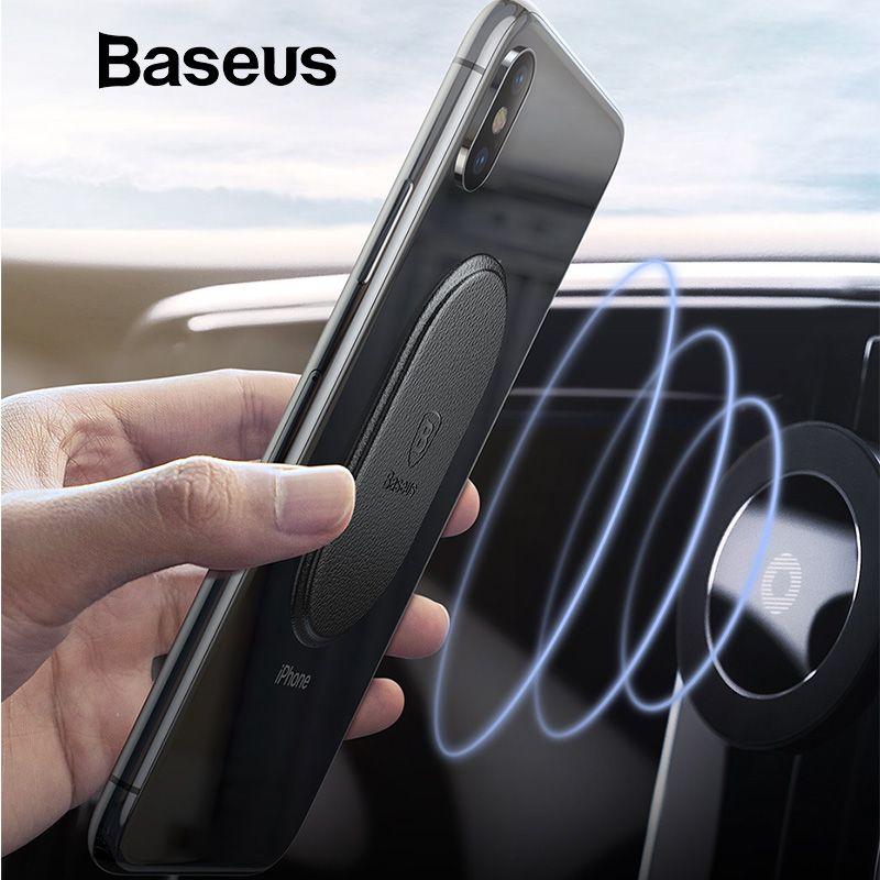 Baseus Metall Platte Magnet Disk Für Auto Telefon Halter Magnet Metall Platte Eisen Blätter für Air Vent Halterung Auto Halter stehen