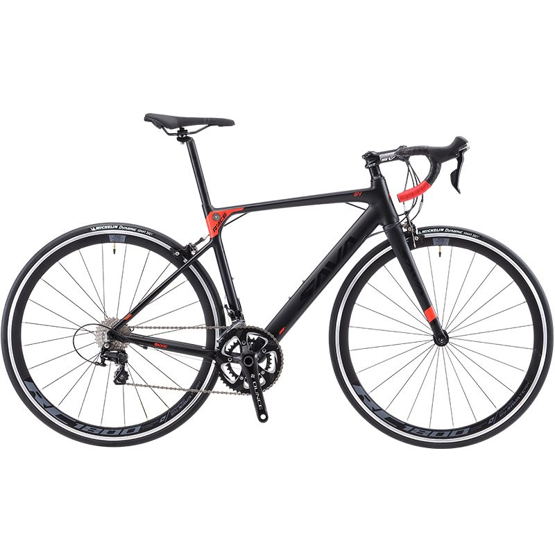 SAVA R8 Carbon Rennrad Steuern freies Rennrad Carbon Bike mit SHIMANO 18 speed Straße fahrrad Retro City-bike komplette Bici citta