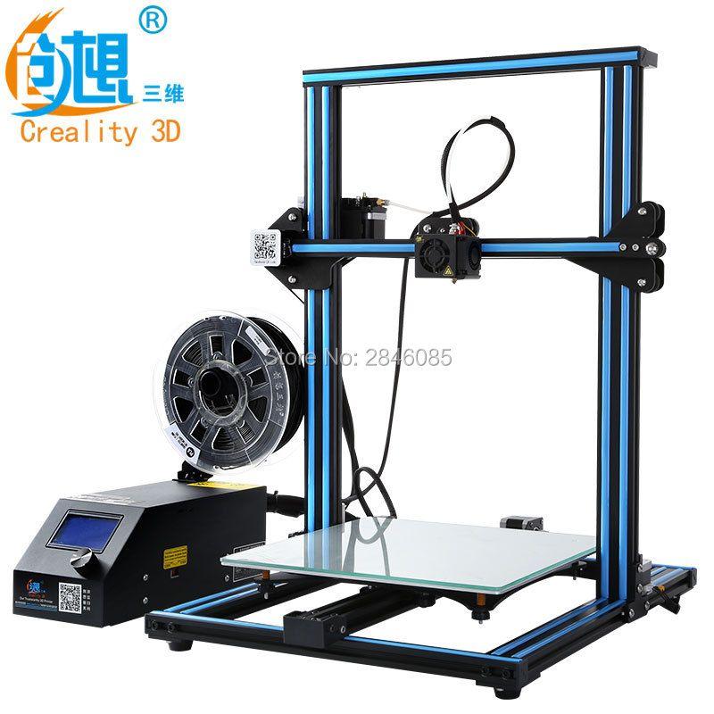 Hot 3D Printer Creality 3D CR-10S CR-10 Optional ,Dua Z Rod Filament Sensor/Detect Resume Power Off Optional 3D Printer DIY Kit