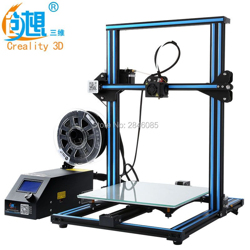 Hot 3D Printer Creality 3D CR-10S CR-10 Optional ,Dua Z Rod Filament Sensor/Detect Resume Power Off Optional 3D Printer DIY Kit