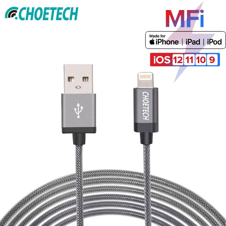 Pour MFi iPhone câble CHOETECH 5 V/2.4A pour Apple à USB 8 P charge rapide et câble de données pour iPhone 7 7 Plus pour 5 5 S 6 S câbles