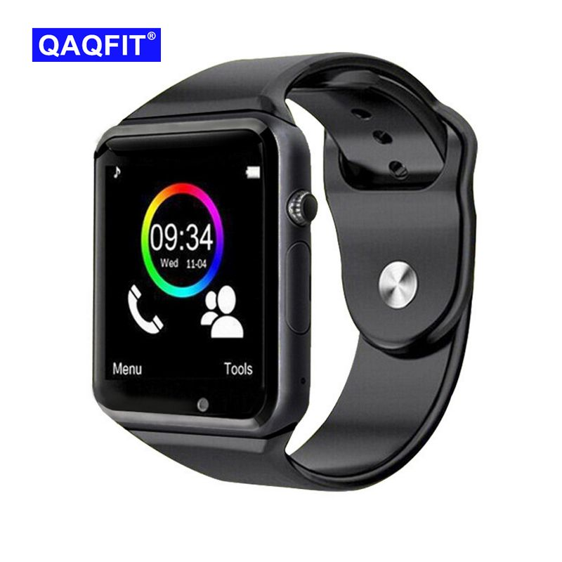 QAQFIT Bluetooth Montre Smart Watch A1 Pour Apple iPhone IOS Android Téléphone Poignet Usure Soutien Sync intelligente horloge Sim Carte PK DZ09 GV18