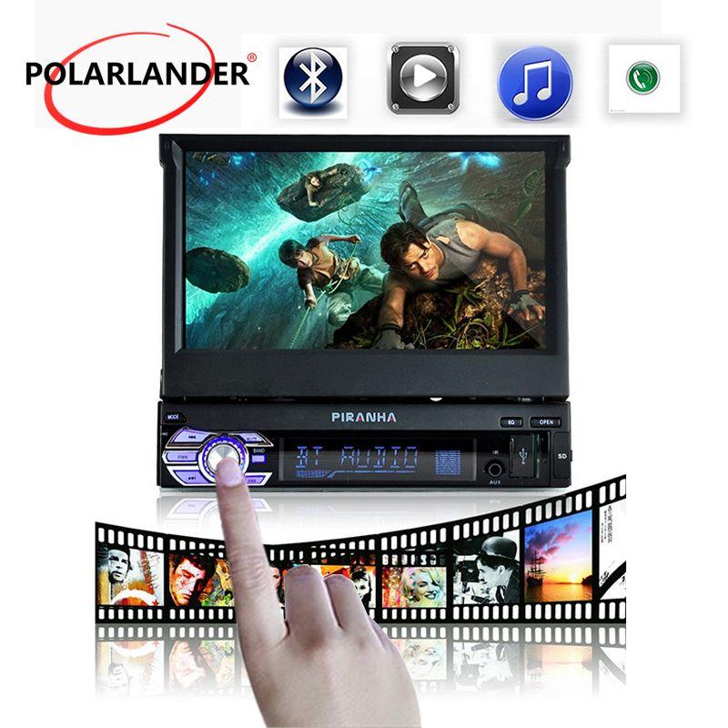 12 v Auto Stereo Bluetooth FM auto Radio MP5 Audio Player USB/TF/SD 1 DIN 7 zoll versenkbare Touchscreen-Monitor Rückansicht Kamera