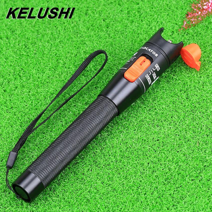 Kelushi 10 МВт ручка Тип красный источник света Визуальный дефектоскоп Волокно оптоволоконного кабеля tester5-8km Волокно-оптический инструмент