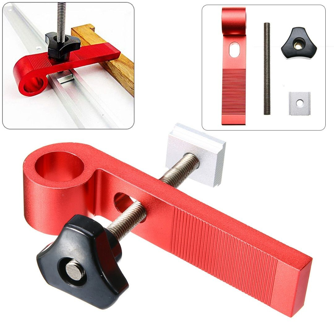 1Set Universal Clamping Blocks Clamp Woodworking Joint Hand Tool M8 Screw Set for DIY Woodworking Tools