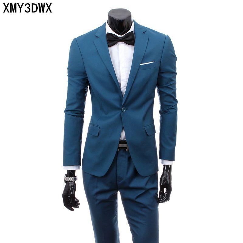 (Veste + pantalon) 2018 Custom made Hommes Gris Clair Costumes Veste Pantalon Formelle Robe Hommes Costume Set hommes de mariage costumes smokings de marié