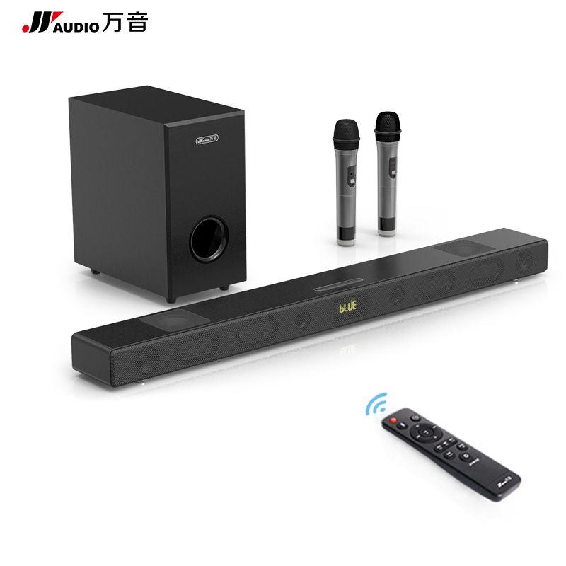 JY AUDIO KTV Wireless Home Theatre System 3D Stereo Wood TV Soundbar 5.1 with Subwoofer Full Range Speakers Tweeter Loudspeaker