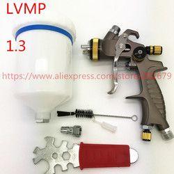 Gratis Pengiriman Lvmp Spray Gun 1.3 Mm Gravity Feed Tipe Cat Gun 600 Ml Penyemprot Cat Lukisan Semprot Gun Profesional kualitas