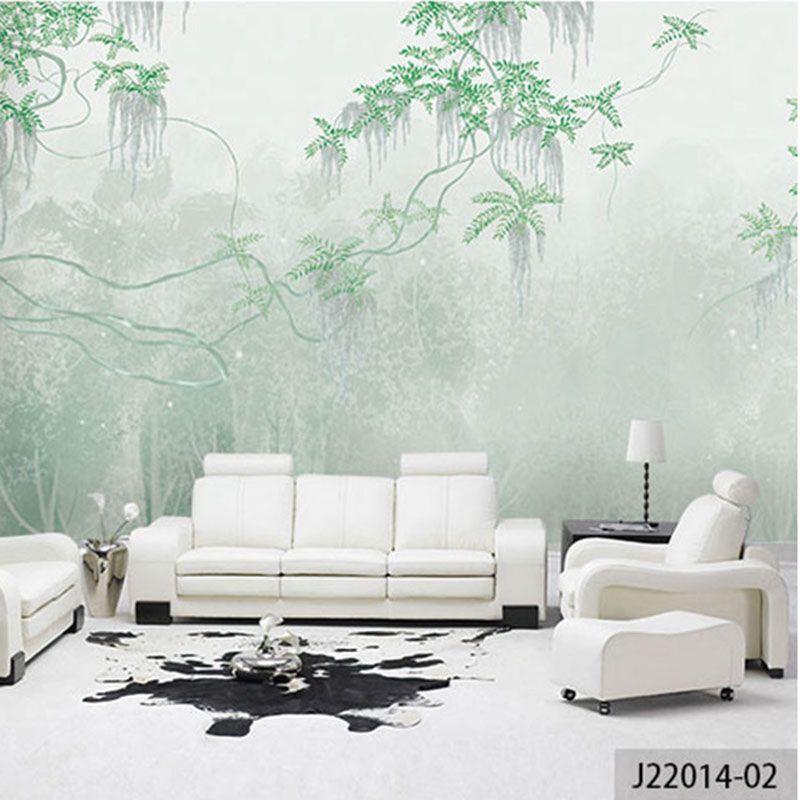 Пользовательские 3D печати DIY Ткань и текстильные обои для стен обои матовый шелк для Постельные принадлежности Гостиная цветы лес Desktop