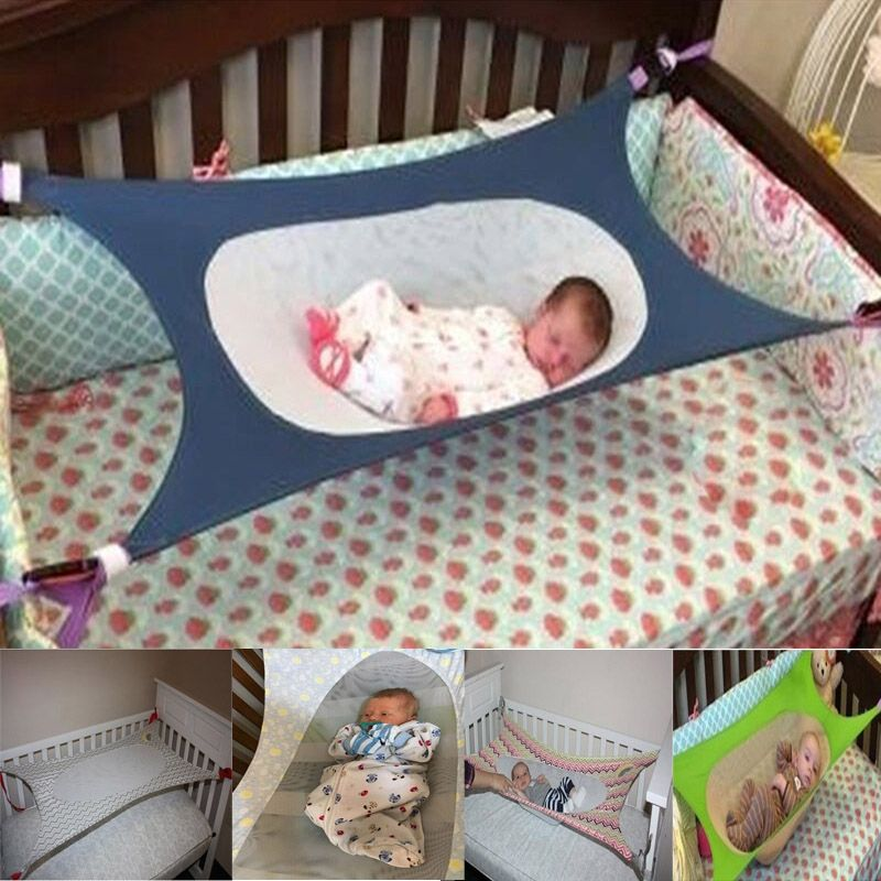 Folding Newborn Infant Bed Elastic Detachable Baby Cot Beds Portable Baby Crib Hammock Toddler Safe Photography Props Ho