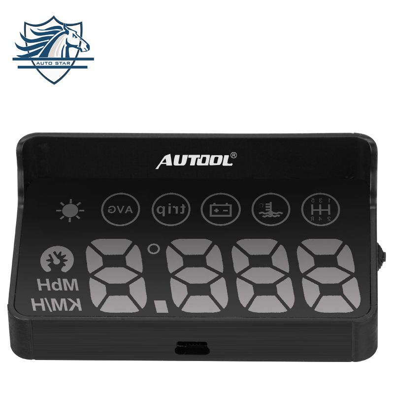 Car OBD2 II EUOBD car HUD Head Up Display Overspeed Warning System Projector Windshield Auto Electronic Voltage Alarm