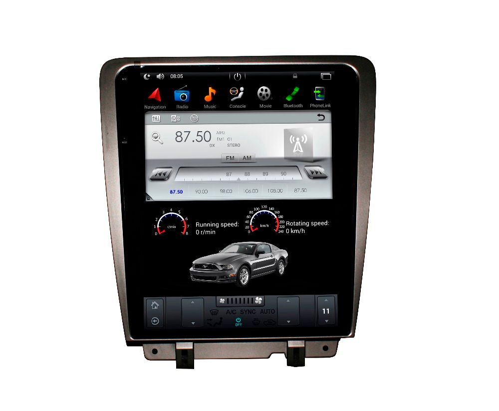 Tesla style ISP Screen Android 7.1 6.0 Car DVD Player GPS Navigation Radio Screen For Ford Mustang 2010 2011 2012 2013 2014
