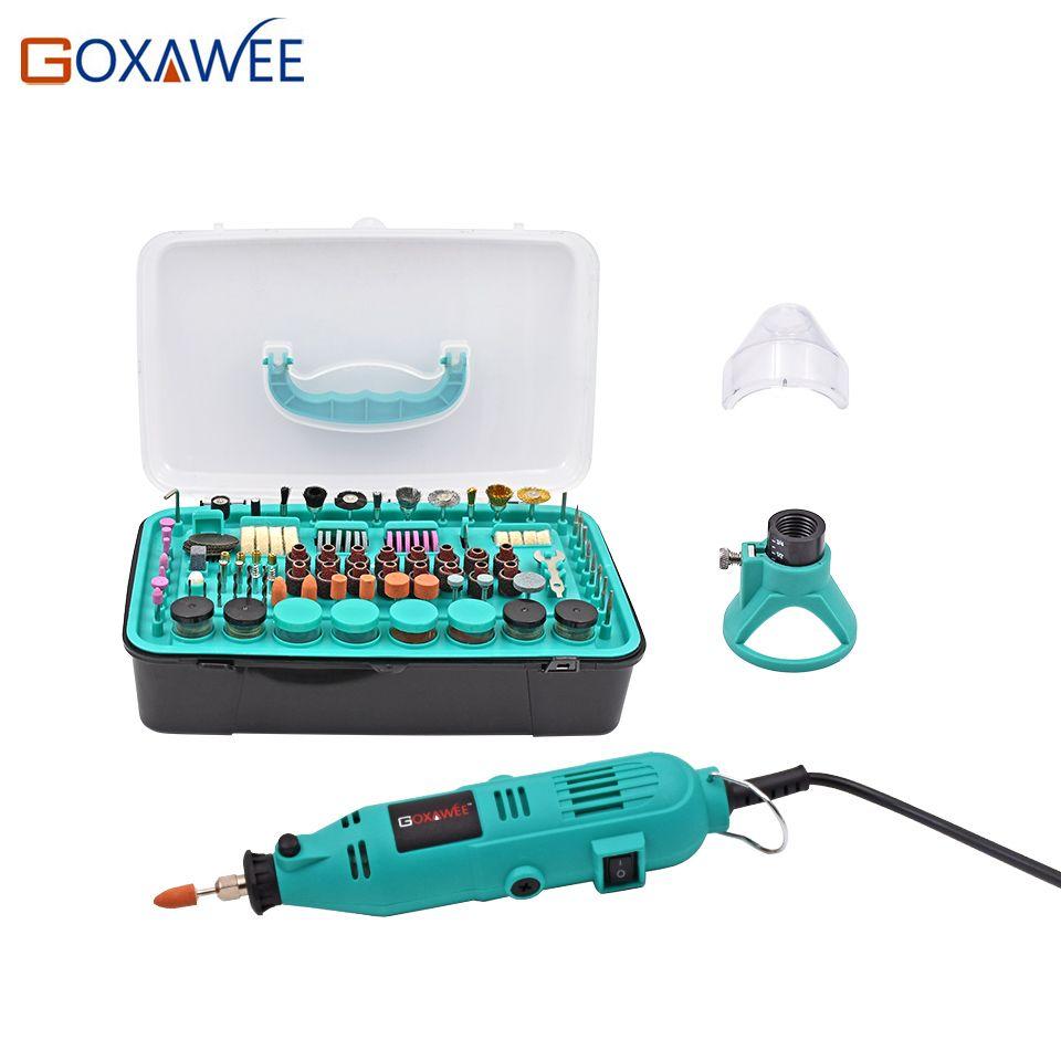 GOXAWEE 30000rpm Electric Drill Power tools Mini Grinder Rotary Tools With Polishing Tools Set Mini Grinding Tools Mini Grinder