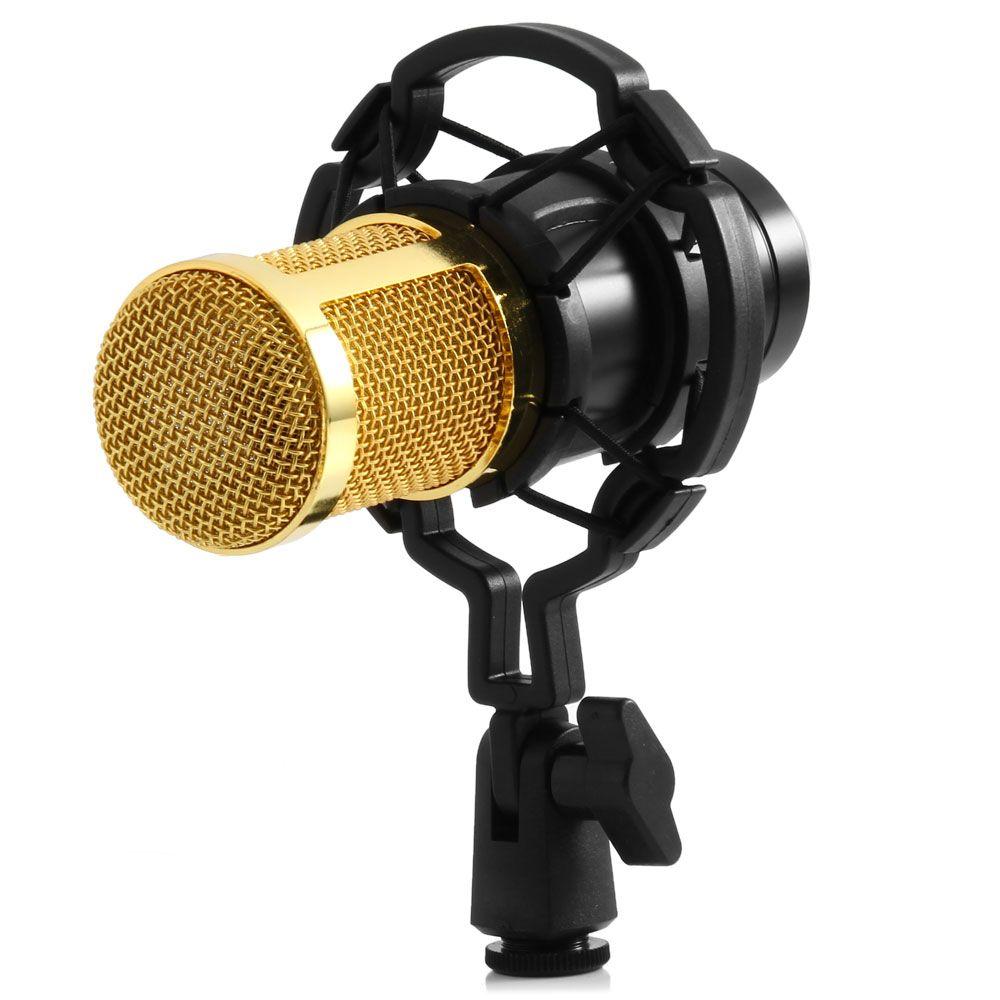 Zeepin BM-800 Dynamic Condenser Wired Microphone Mic Sound Studio for Recording Kit KTV Karaoke with Shock Mount Holder Mikrafon