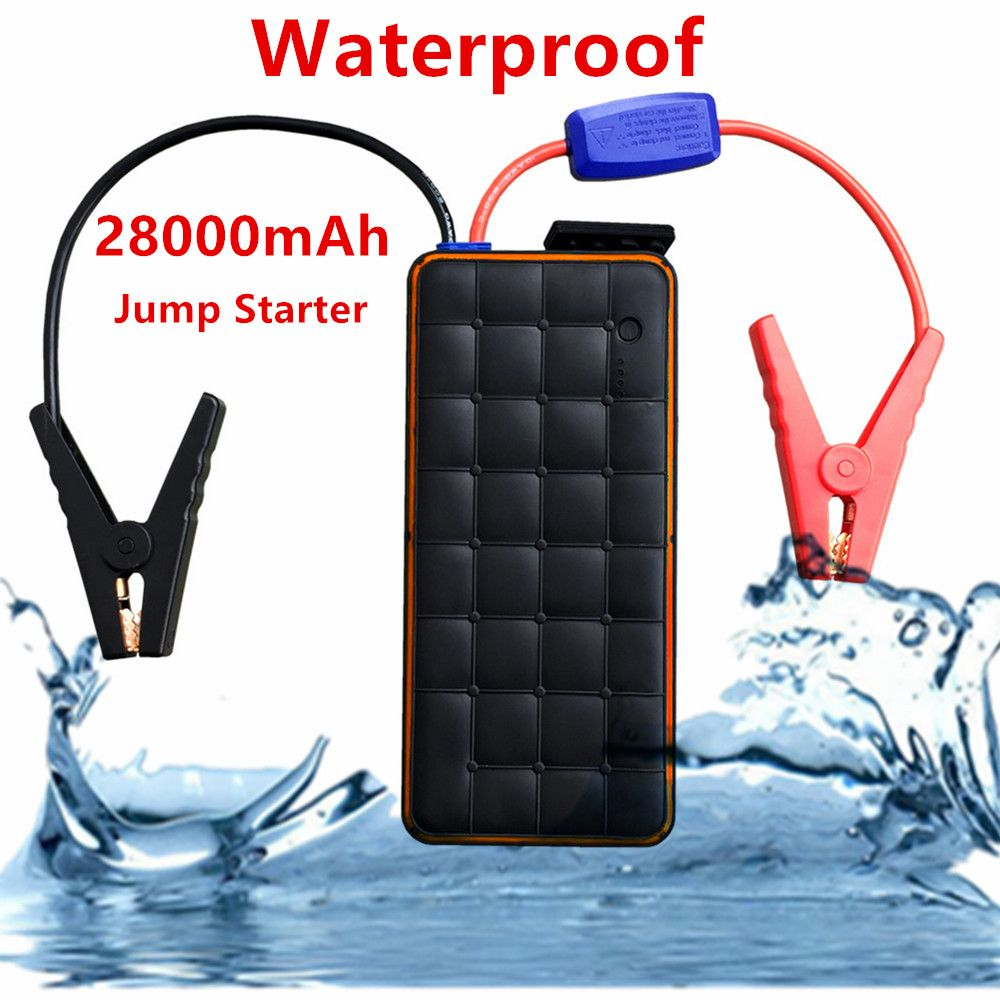 Waterproof 28000mAh Car Jump Starter Power Bank 1000A Portable Starting devices Car Charger For Car Battery Booster Auto Starter