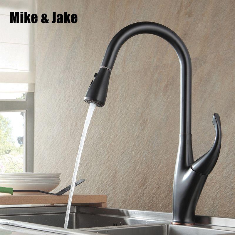 Nouveau ORB noir pull out cuisine robinet en laiton de cuisine de luxe mélangeur évier robinet mélangeur robinets de cuisine sortir robinet de cuisine MJ5559