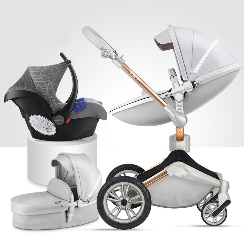 Luxury Baby Stroller 3 in 1 Foldable Carriages For Newborns High Landscape Baby Prams For Infant 360 Degree Rotate Cradle