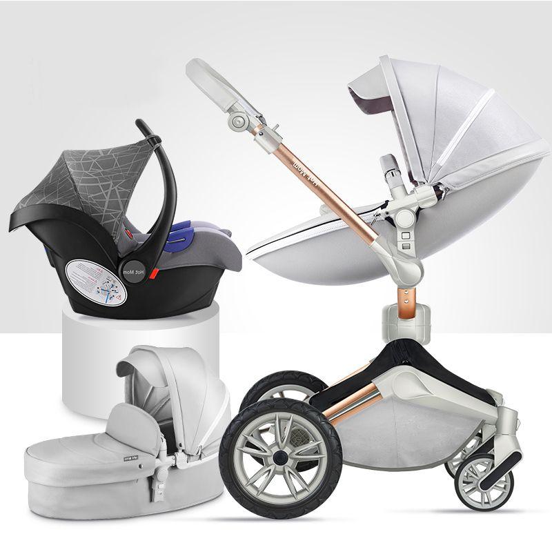 Luxus Kinderwagen 3 in 1 Faltbare Wagen Für Neugeborene Landschaft Babyprams Für Infant 360 Grad Drehen Cradle