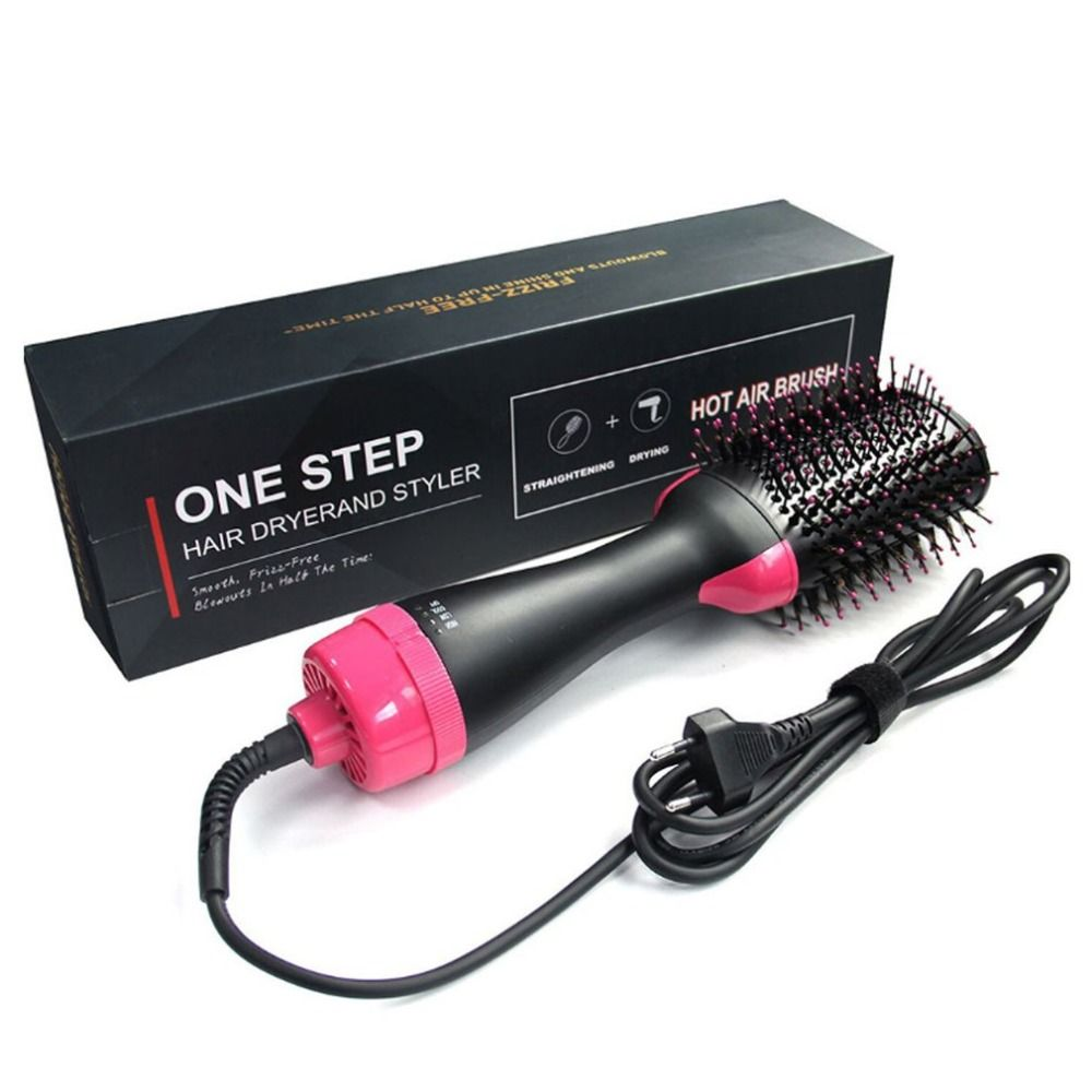 Electric Pro Hair Dryer Comb Multifunctional Infrared Negative Ion Hot Air Comb Straight Hair Curling Comb Hairdryer Drop ship